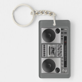 Boombox Radiographik Einseitiger Rechteckiger Acryl Schlüsselanhänger