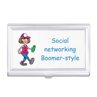 Boomer-style Business Card Holder Visitenkarten Etui