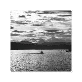 Boot auf dem Wasser Galerie Falt Leinwand