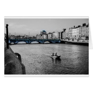 Boot in Irland Grußkarte