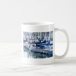 Boote im Hafen Tasse