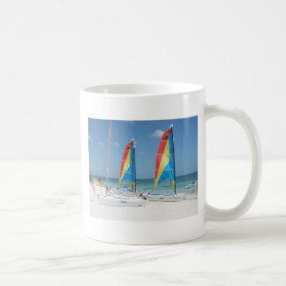 Boote in Cancun Kaffeetasse