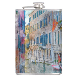 Boote Venedigs Italien im Canal Grande Flachmann