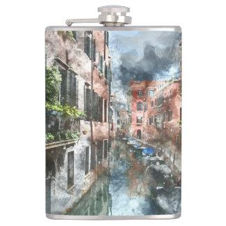 Boote Venedigs Italien im Kanal Flachmann