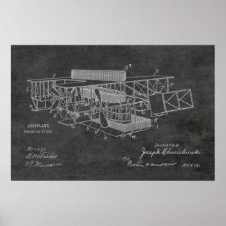 Boots-Flugzeug-Patent-Kunst 1915, die Druck Poster