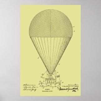 Boots-Luftschiff-Ballon-Patent-Kunst 1913, die Poster