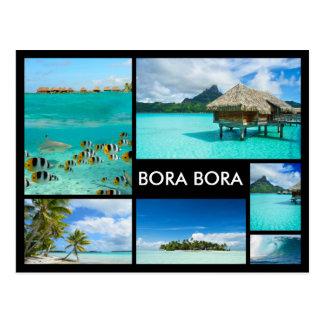 Bora Bora Geisterbildcollagenschwarzpostkarte Postkarten
