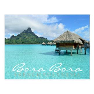 Bora Bora overwater Postkarte