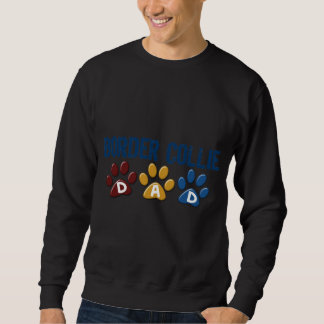 BORDER-COLLIE-VATI Tatzen-Druck Sweatshirt