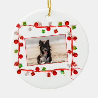Border-Collie-Weihnachten Keramik Ornament