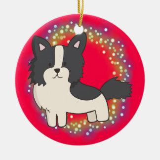 Border-Collie-Weihnachtsverzierung Keramik Ornament