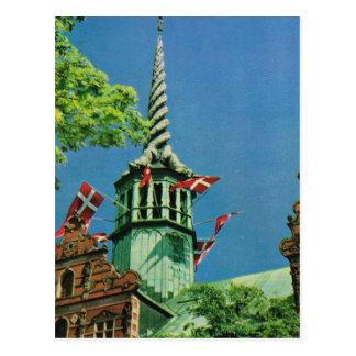 Börse Vintagen Dänemarks, Kopenhagen, Postkarte