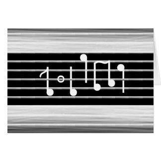 Borsten-musikalische Anmerkungen Karte