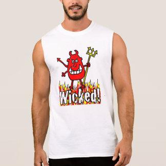 Böser Teufel mit Flammen-Entwurf Ärmelloses Shirt