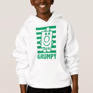 Boshaftes Grinsen Herr-Grumpy | und grüne Streifen Hoodie