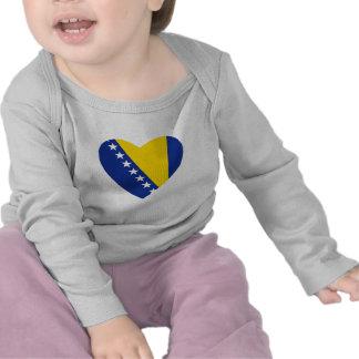 Bosnien-Herzegowinaflaggen-Herz-T - Shirt