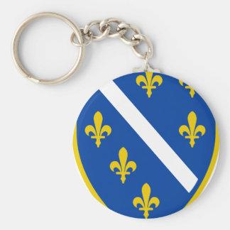 Bosnien Standard Runder Schlüsselanhänger