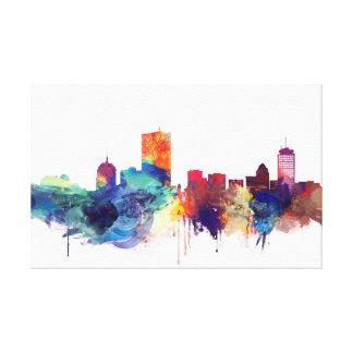 Boston, Massachusetts-Aquarell-Stadtbild Leinwanddruck