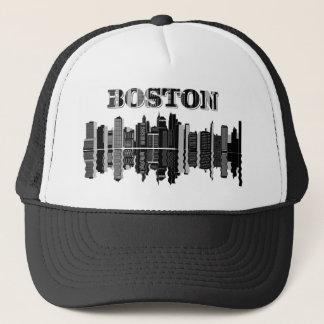 Boston-Skyline-Typografie Truckerkappe