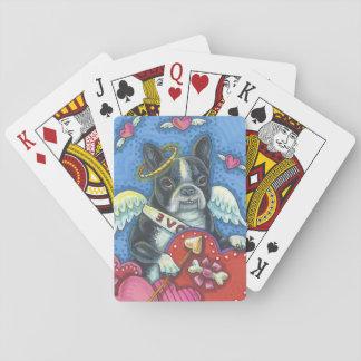 BOSTON-TERRIER Amor SPIELKARTEN Poker