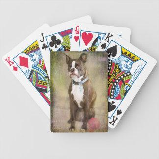 """Boston Terrier """"Porträt eines Herrn """" Bicycle Spielkarten"""