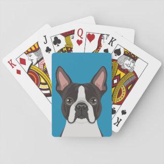 Boston Terrier Spielkarten