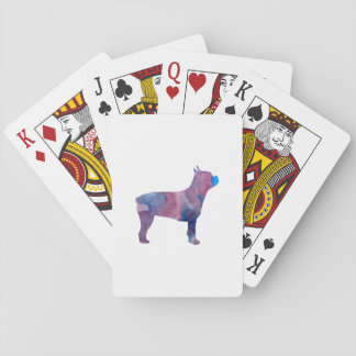 Boston-Terrier Spielkarten