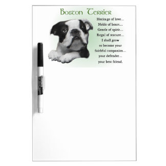 Boston-Terrier-Welpen-Erbe der Liebe Memoboard