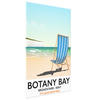 Botanik-Bucht, Broadstairs Kent Strand-Reiseplakat Leinwanddruck