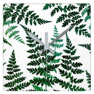 Botanische Glücksquadrat-Wanduhr Quadratische Wanduhr