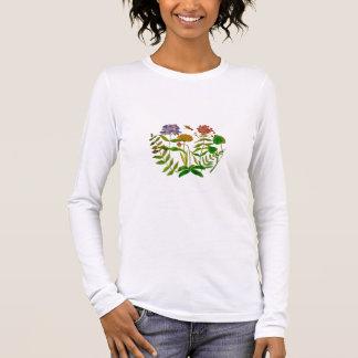 Botanische Illustration auf die lange die Langarm T-Shirt