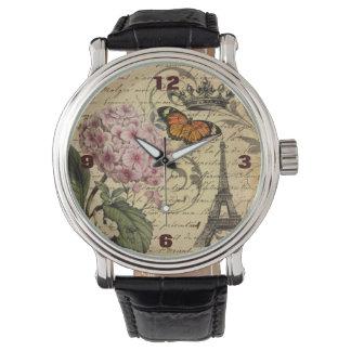 botanische Kunst scripts Hydrangea Armbanduhr