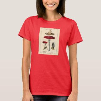 Botanischer Druck - Pilze u. Pilze T-Shirt