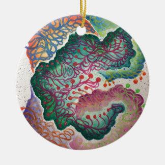 Botanisches Atem-Aquarell Rundes Keramik Ornament