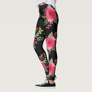 Botanisches Muster der bunte Blumen-BlumenRosen-| Leggings