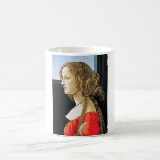 Botticelli Porträt einer junge Frauen-Tasse Tasse