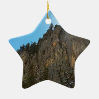 Boulder-Schlucht verengt Berggipfel Keramik Ornament