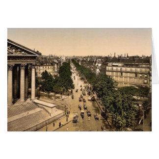 Boulevard der Madeline d h Madeleine Paris Grußkarte