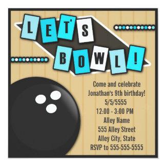 Bowlings-Party Ankündigungen