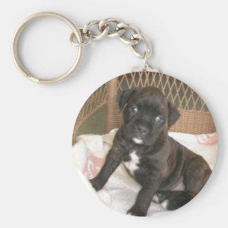 Boxer-Baby! Standard Runder Schlüsselanhänger