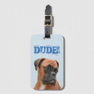 Boxer-Bulldoggen-Gepäckanhänger mit Kofferanhänger
