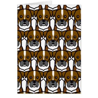 Boxer Grußkarte