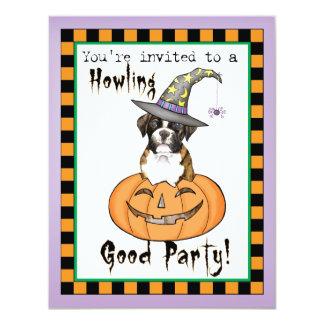 Boxer Halloween 10,8 X 14 Cm Einladungskarte