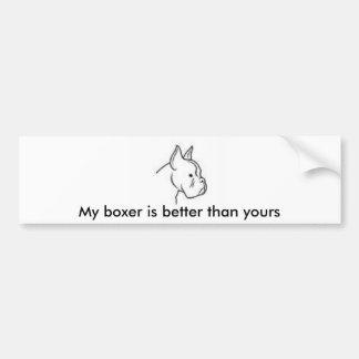 Boxer-Hund Autoaufkleber
