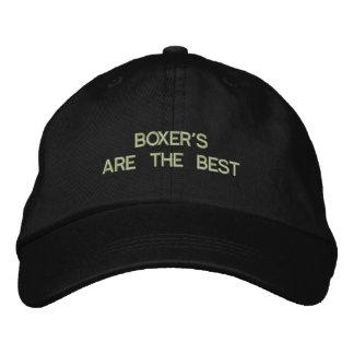 Boxer-Hund gestickter Hut Bestickte Baseballmütze