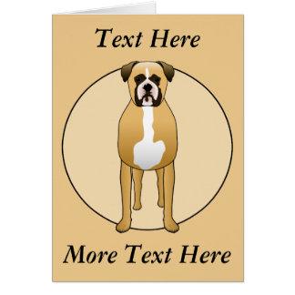 Boxer-Hund Karte