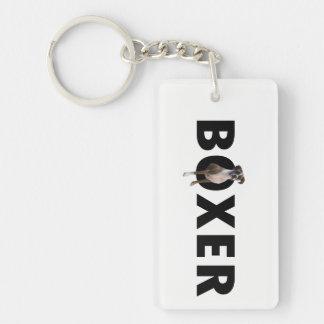 Boxer-Hund Keychain Schlüsselanhänger