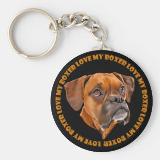 Boxer-Hund Schlüsselanhänger