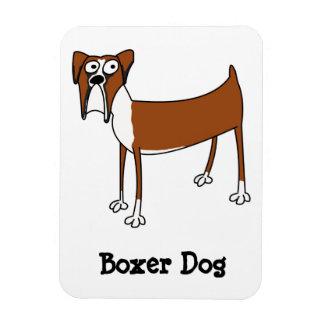 Boxer-Hundemagnet Vinyl Magnet