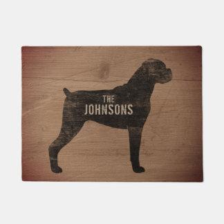 Boxer-HundeSilhouette-Gewohnheits-Fußmatte Türmatte